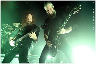 Niklas Engelin and Bjorn Gelotte of In Flames. Photo By Kaley Nelson
