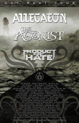 allegaeon the agonist product of hate tour