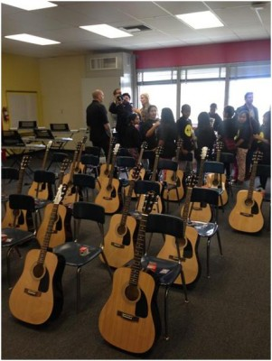 The new music room at Westminster Elementary in Venice, CA.