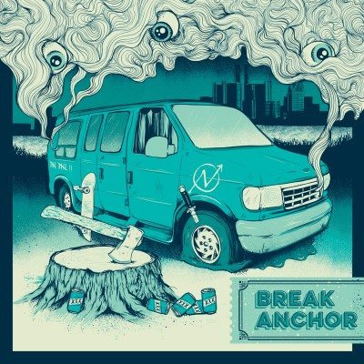 break anchor in a  van down by the river