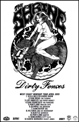 the shrine dirty fences west coast tour 2015