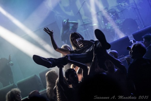 Crowdsurfer at Neurotic Deathfest, by Susanne A. Maathuis
