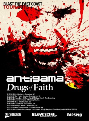 antigama drugs of faith blast the east coast 2015