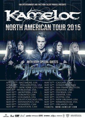 US-2015Kamelot Dragonforce tour poster leg one