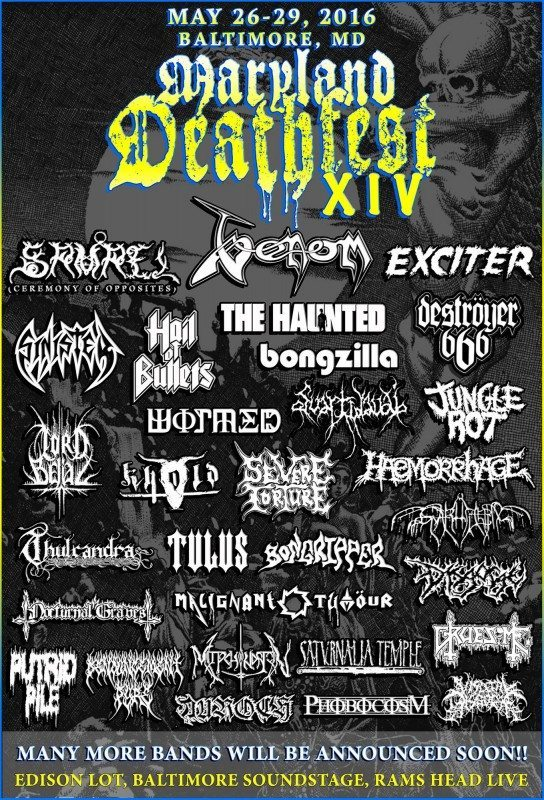 Maryland Deathfest 2016 first flyer