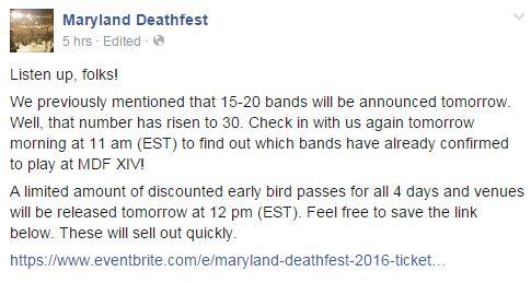 mdf tomorrow 30 bands