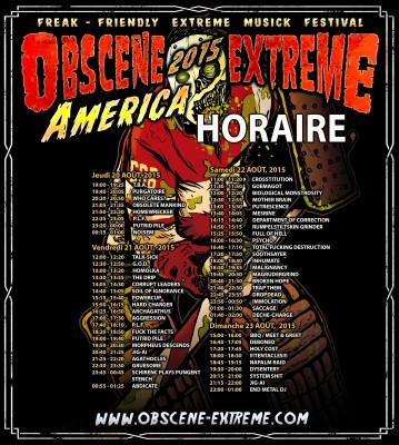 obcene extreme fest can French poster