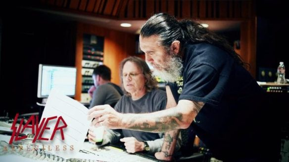 Clip from Slayer Repentless video with Terry Date