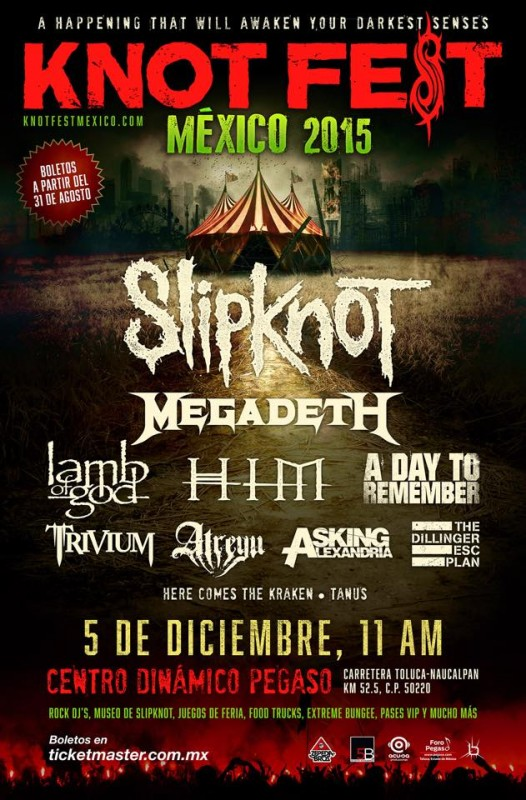 Knotfest Mexico admat