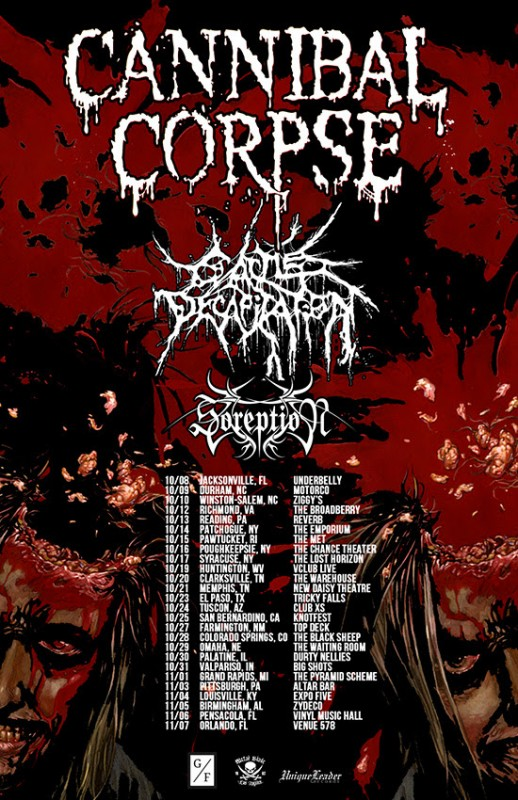 cannibal corpse fall us tour