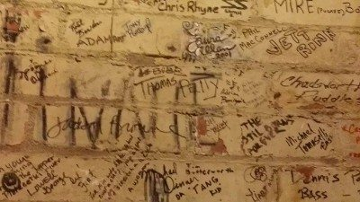 Wall of Autographs at Alley Music Studios, by Melina D Photography