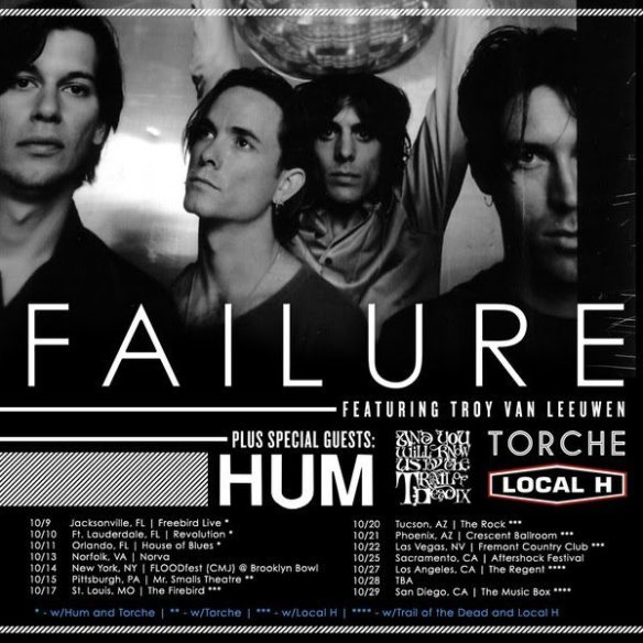 Failure tour poster with Troy Van Leeuwen