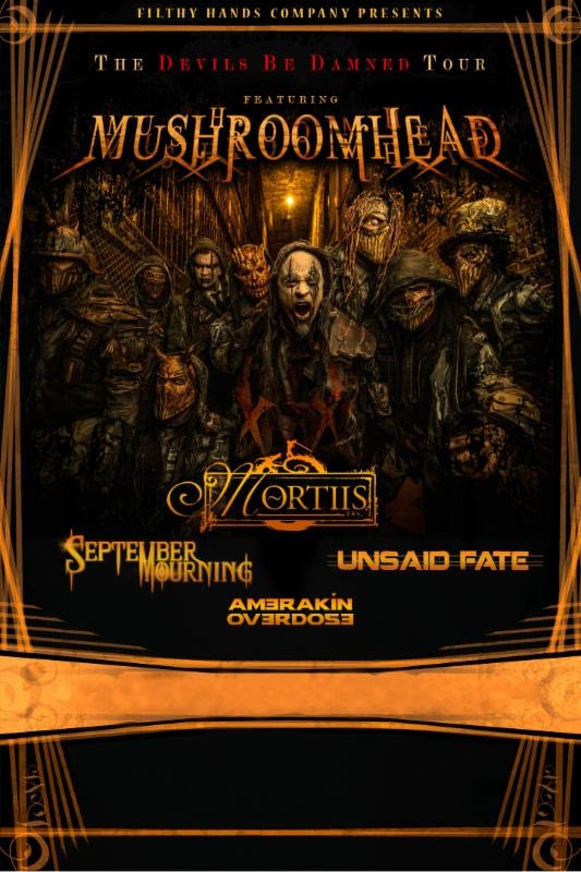 Mushroomhead and Mortiis tour admat fall 2015