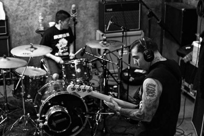 Drummer Pokey Mo and bassist Mike Gallo of Agnostic Front. Photo Credit: Todd Huber