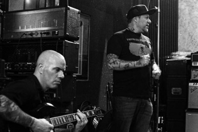 Craig Silverman and Roger Miret of Agnostic Front. Photo Credit: Todd Huber