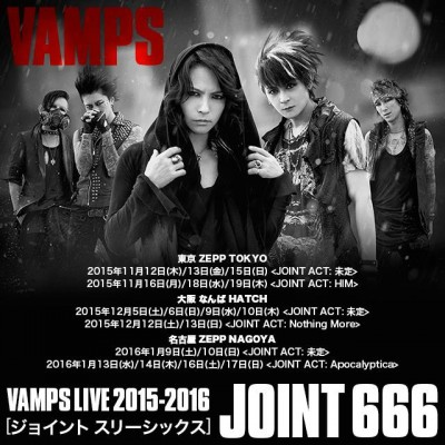 vamps japan live 2015-2016