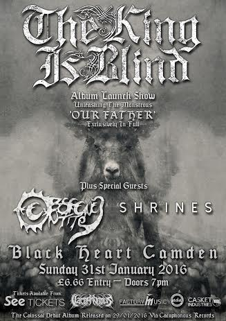 The King Is Blind album release admat