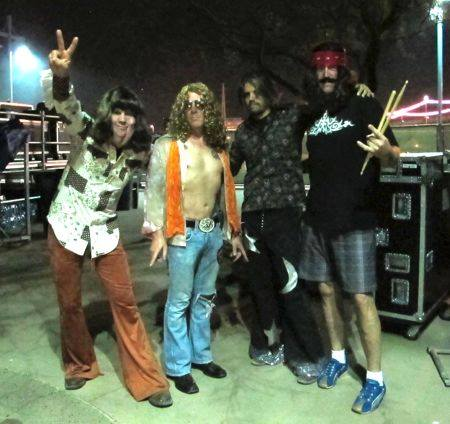 Tool dressed as Led Zeppelin at Monster Mash: photo credit Rynne Stump