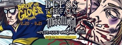 blessedthefall drop the gloves tour 2016