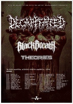 decapitated black breath theories us tour 2016