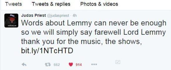 judas priest rip Lemmy