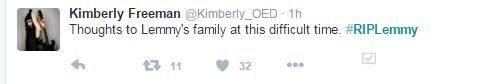 kim freeman OED RIP Lemmy
