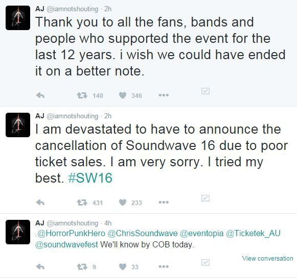 soundwave cancelled