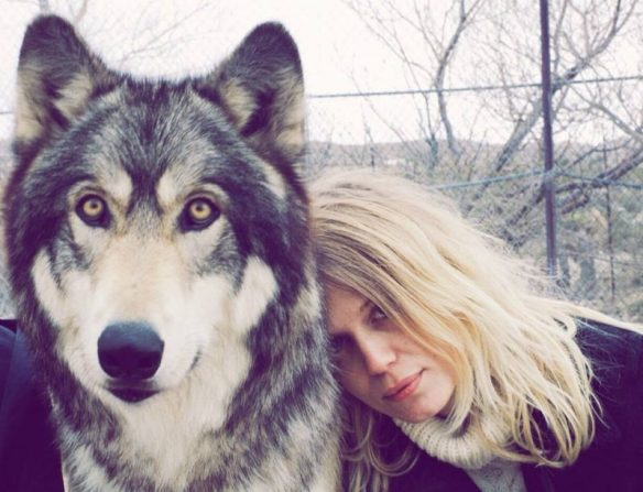 Myrkur and her Graywolf, from Facebook
