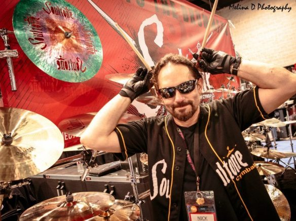 Nick Menza (ex-Megadeth) at The NAMM Show, by Melina D Photography