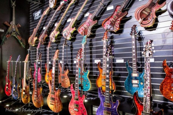 ESP Guitars display at The NAMM Show, by Melina D Photography