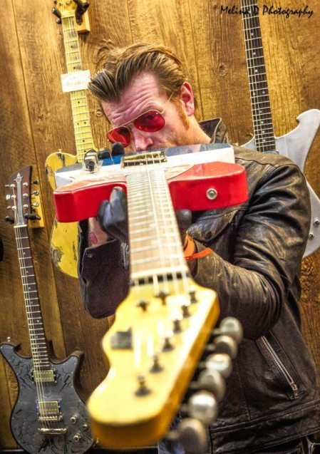 Jesse Hughes of Eagles of Death Metal at The NAMM Show, by Melina D Photography