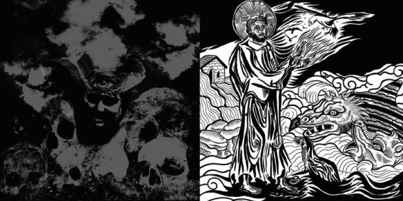 Primitive Man Sea Bastard- Split EP cover ghostcultmag