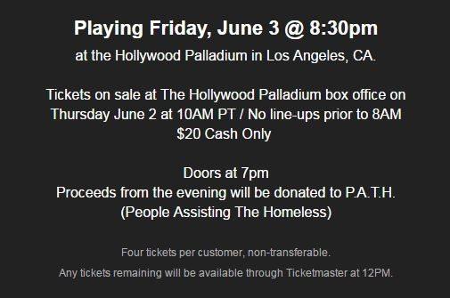 Prophets of Rage Holly wood Palladium on sale