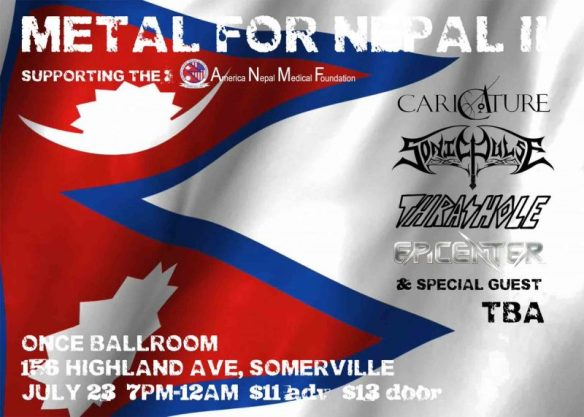 Metal For Nepal Official Flyer By Artist Lisa Schuchmann