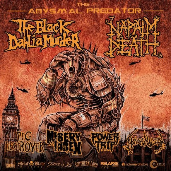 Black Dahlia Murder Napalm Death Abnormality fall 2016 tour ghostcultmag