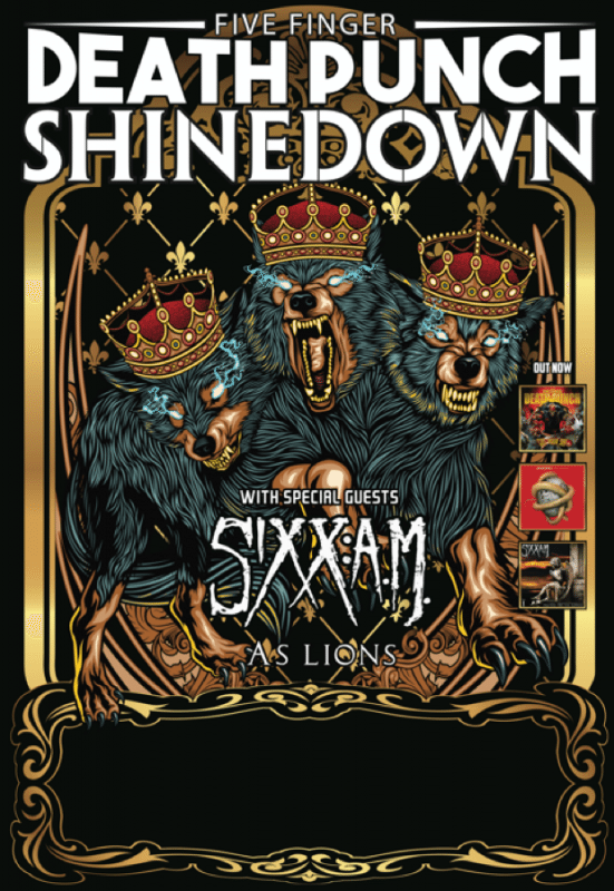 Five Finger Death Punch, Shinedown, Sixx A.M., As Lions Tour ghostcultmag