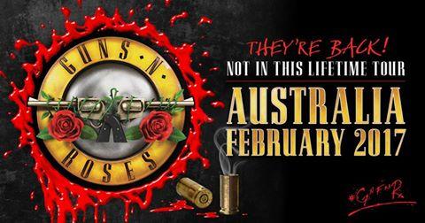 Guns N Roses Austraillia poster ghostcultmag