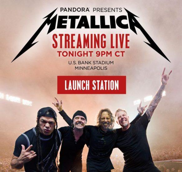Metallica Streaming live Pandora ghostcultmag