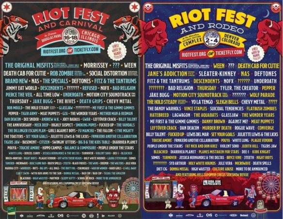 Riot Fest Dencver And Chicago