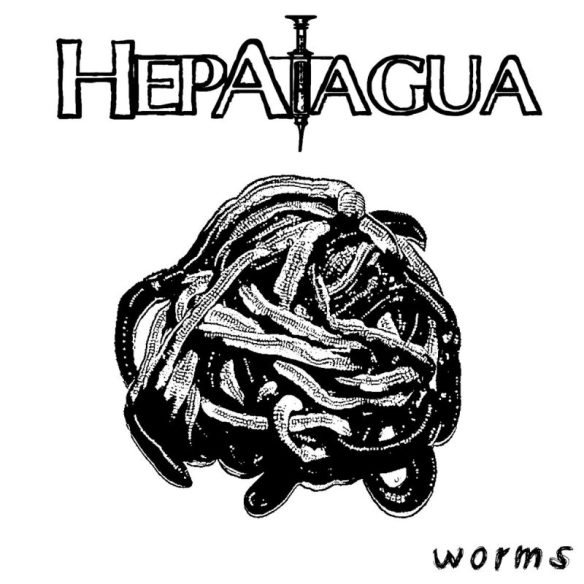 Hepatagua Worms EP cover ghostcultmag