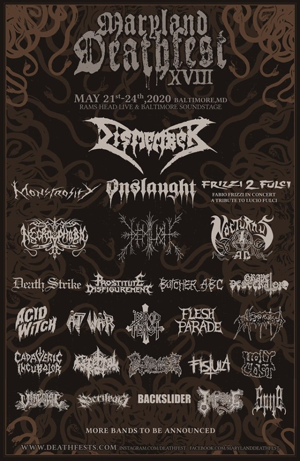 Death List 2020.Dismember Monstrosity Onslaught Necrophobic Demilich