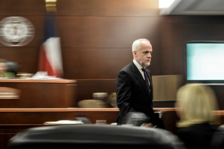 Top Houston Criminal Lawyer Mark Bennett at the Harris County Courthouse in Downtown Houston