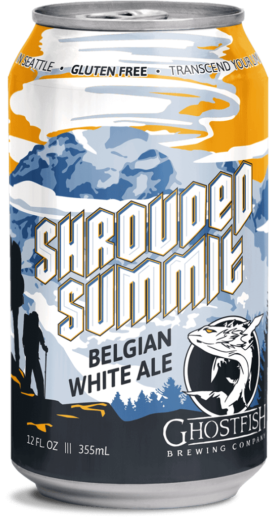 Ghostfish Shrouded Summit Belgian White Ale Can
