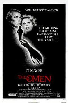 """The Omen Movie Poster """"If something frightening happens to you you today, think about it.  It may be The Omen"""""""