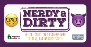 Rebecca and Pat in Nerdy & Dirty @ Center Stage Theater