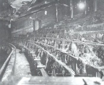 Iroquois Theater balcony where the greatest loss of life happened.  The fire escapes out to the alley were not installed.