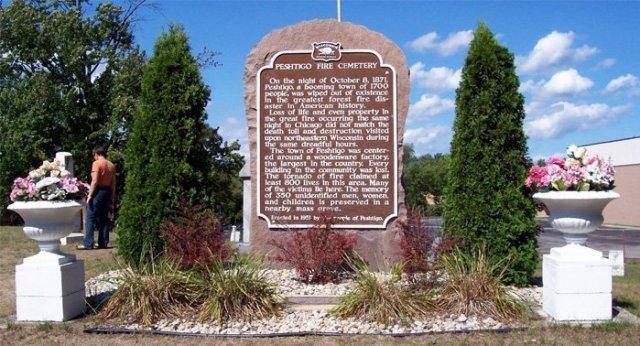 Peshtigo Fire Memorial and Mass Grave