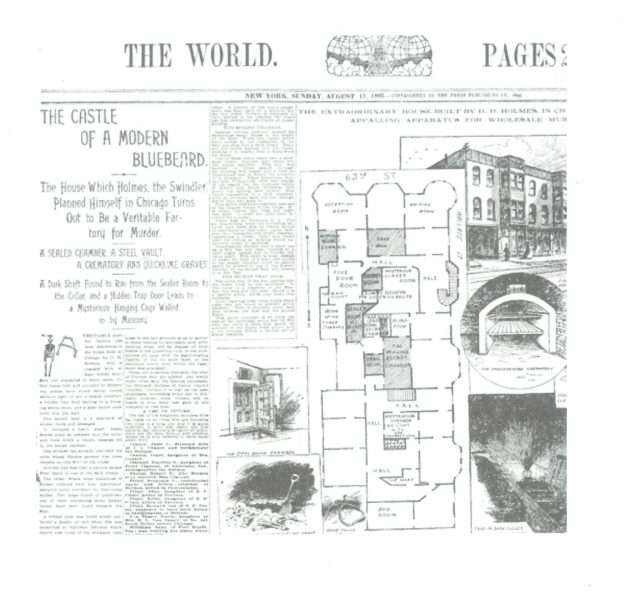 Newspaper Article on the Murder Castle