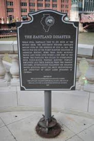 Eastland Memorial Plaque on Chicago River