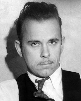 Dillinger with mustache